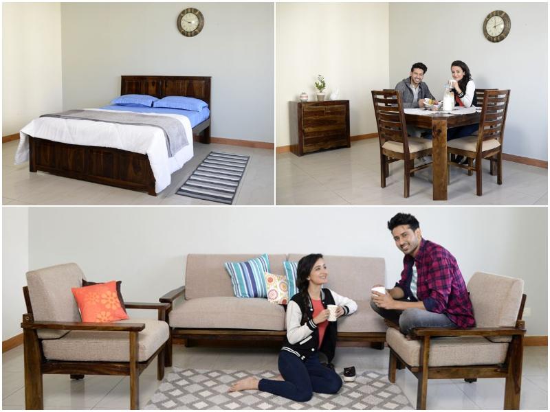 Alexa 1BHK Furniture with Queen Beds