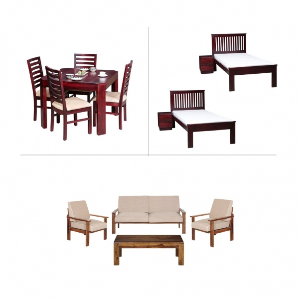 Alexa 1BHK Furniture with Single Beds