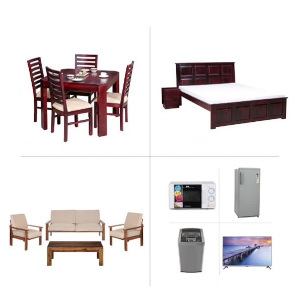 1BHK Home Furniture and Appliances