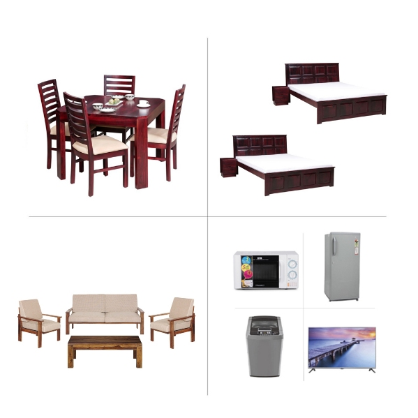 Alexa 2BHK Furniture with Appliances