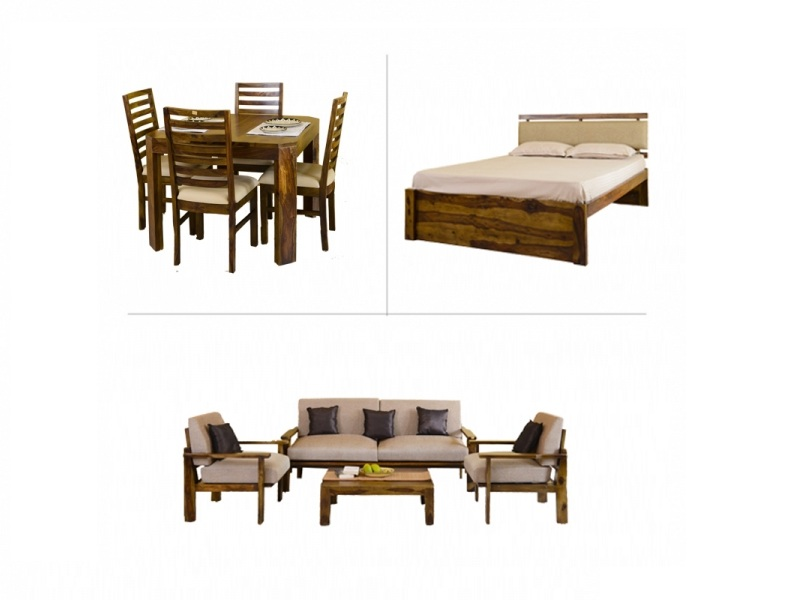 Belle 1BHK Furniture with Queen Bed
