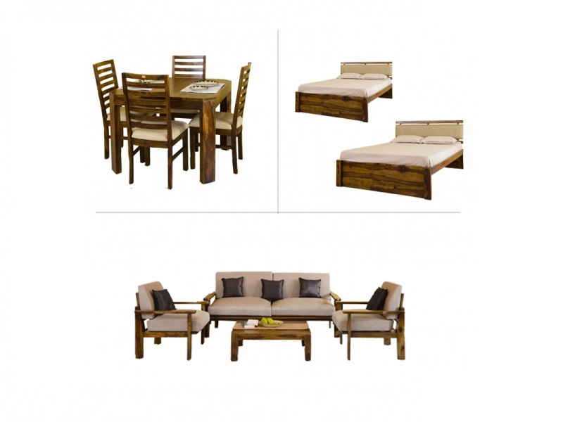 Belle 2BHK Furniture with Queen Bed