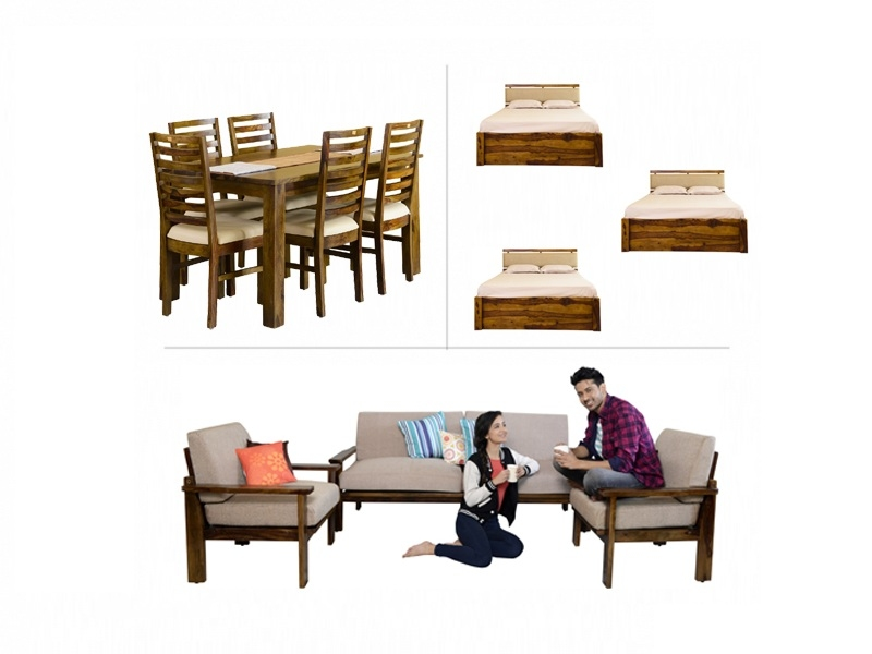 Belle 3BHK Furniture with Queen Beds