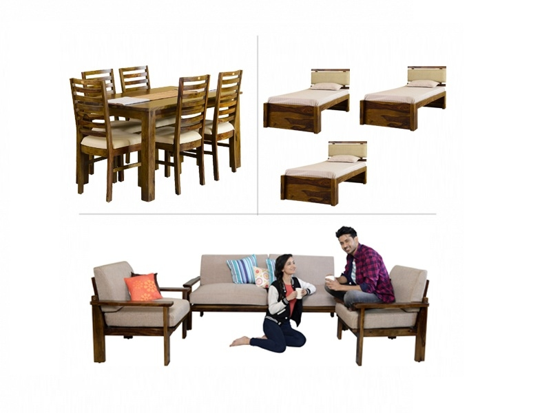 Belle 3BHK Furniture with Single Beds